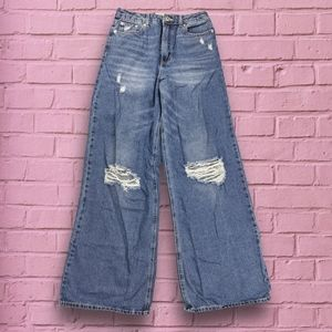 Forever 21 90s style wide leg jeans